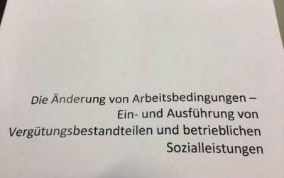 Änderungskündigung, Vergütungsansprüche und betriebliche Sozialleistungen.